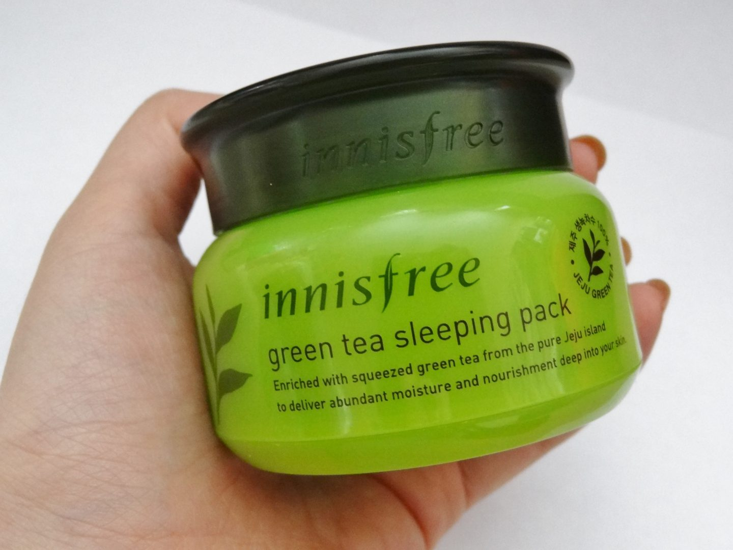 REVIEW: Innisfree Green Tea Sleeping Pack