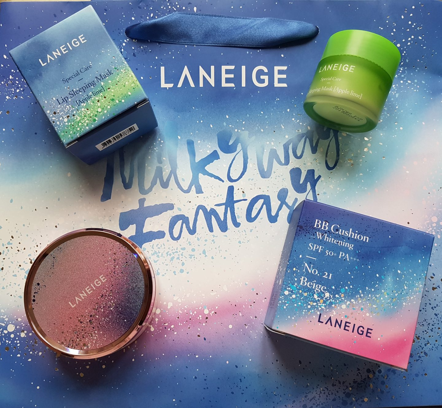 LANEIGE Milkyway Fantasy 2016 Holiday Collection – BB Cushion + Lip Sleeping Mask