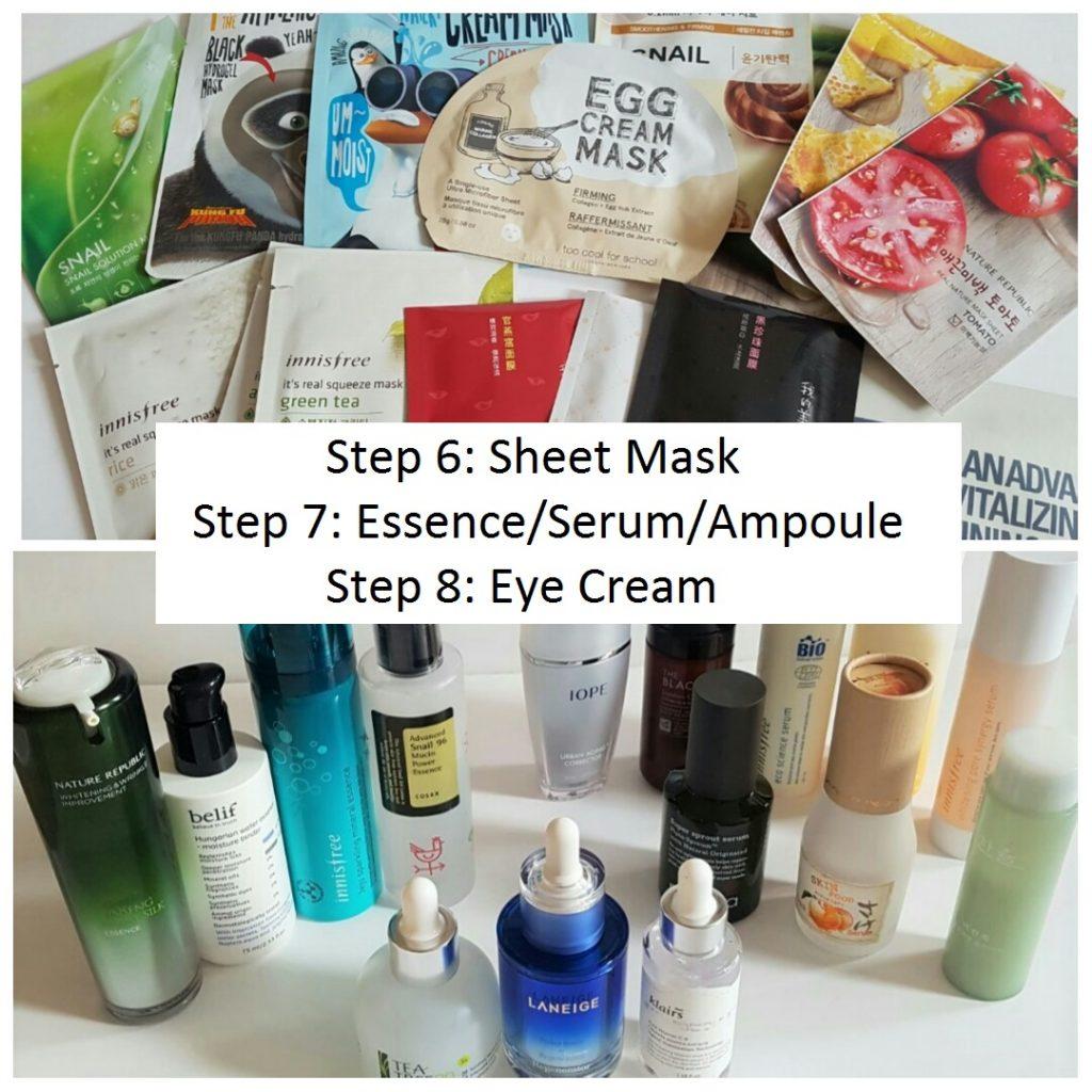 KOREAN SKINCARE ROUTINE 101: Part 3: Sheet Mask, Essence/Serum/Ampoule & Eye Cream