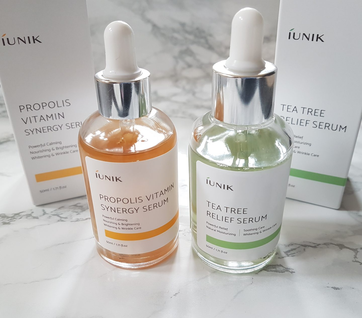 REVIEW: IUNIK Tea Tree Relief Serum & Propolis Vitamin Synergy Serum
