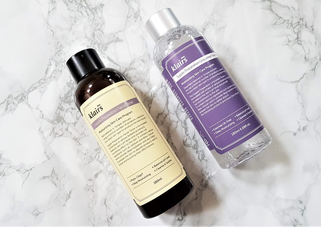 Klairs toner comparison