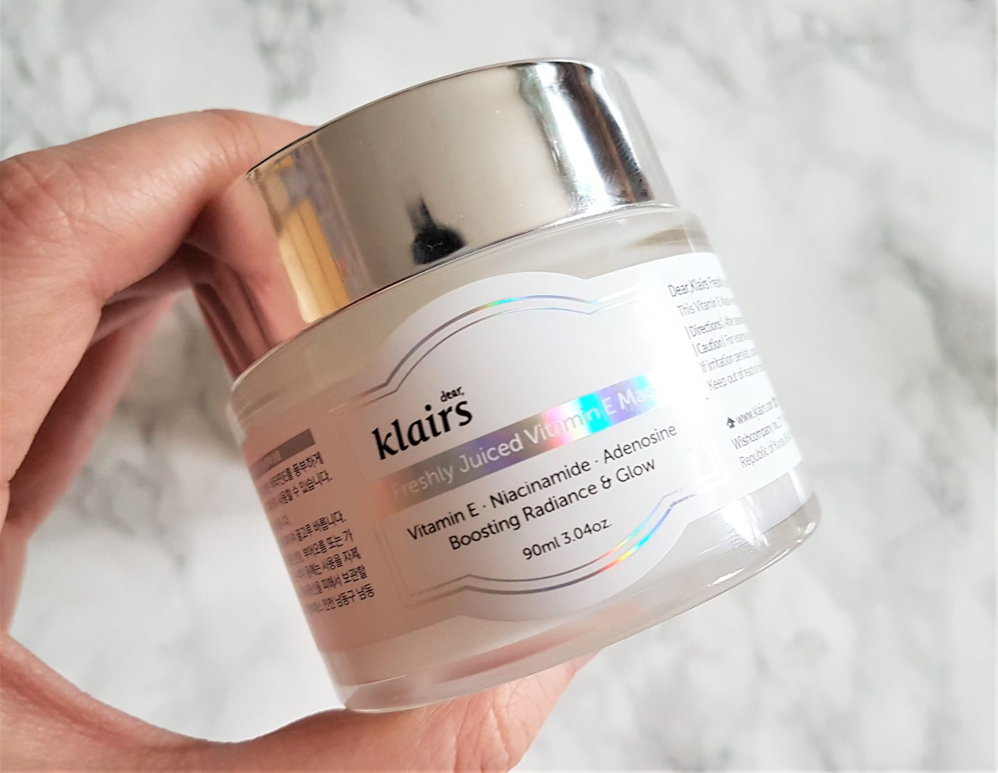 REVIEW: KLAIRS Freshly Juiced Vitamin E Mask